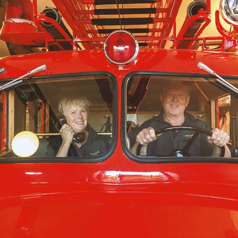 Tema Brandbilens dag på Gården Åker