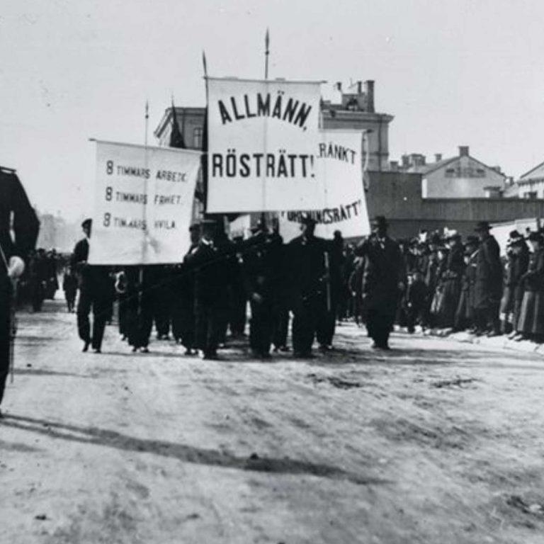 1 maj-demonstration, Sundsvall Museum